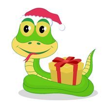 Free Chrismas Snake Royalty Free Stock Images - 28296589