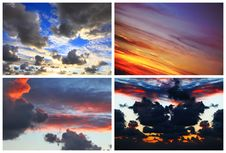 Free Dramatic Color Sunset Royalty Free Stock Image - 28297616