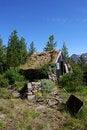 Free Rock Cabin Royalty Free Stock Image - 2836256