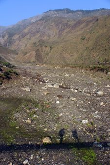 Free Himalaya Trekking Shadows Royalty Free Stock Image - 2830806