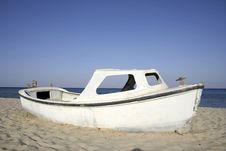 Boat, Red Sea, Sinai Stock Photo