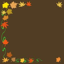 Free Autumn Leaves Scrapbook Stock Images - 2831394