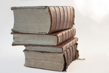 Line Of Ancient Books Royalty Free Stock Photo