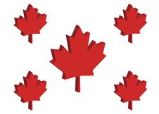 Free Canadian Maple Leaves Royalty Free Stock Image - 2832406