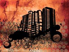 Grunge Buildings Royalty Free Stock Image