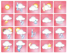 Free Weather Icons Royalty Free Stock Photo - 2833915