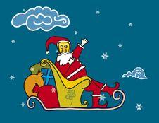 Free Papa Noel (vector) Royalty Free Stock Image - 2834456
