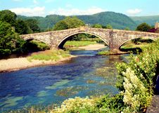 Free Old Bridge At Llanrwst Royalty Free Stock Image - 2834876