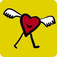 Free Flying Heart (vector) Stock Image - 2834941