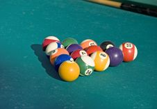 Free Billiard Pyramid Royalty Free Stock Photo - 2835565