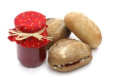 Free Jam With Buns. Royalty Free Stock Photography - 2835697