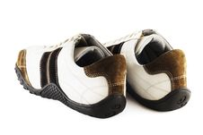Casual Shoes On White Royalty Free Stock Images