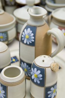 Ceramic Handmade Cups Royalty Free Stock Photo