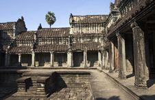 Free Angkor Wat Internal View Royalty Free Stock Photo - 2838265