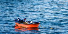 Free Small Red Fishing Boat Stock Images - 2838744