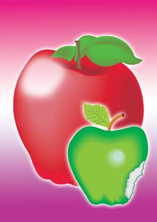 Red And Green Apple Stock Images