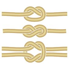 3 Different Knots Royalty Free Stock Image