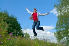 Free Jump Into The Sky (series) Royalty Free Stock Photos - 2839448