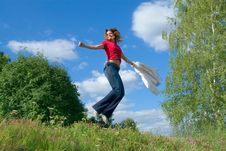 Free Jump Into The Sky (series) Stock Photos - 2839473
