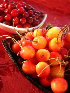 Free Fresh Yellow And Red Cherry Royalty Free Stock Images - 2839579