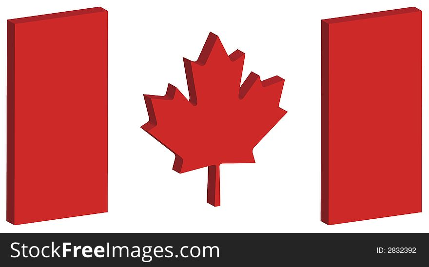 3D Canada Flag 1