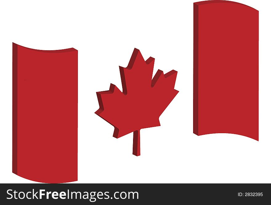 Abstract Canada Flag