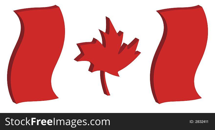 Dancing Canada Flag