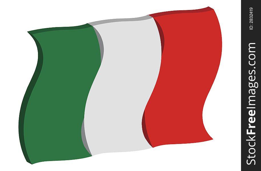 Dancing Italy Flag