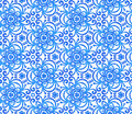 Free Blue Abstract Flowers Seamless Pattern Stock Image - 28305141