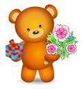 Free Bear With Flowers Royalty Free Stock Images - 28309949