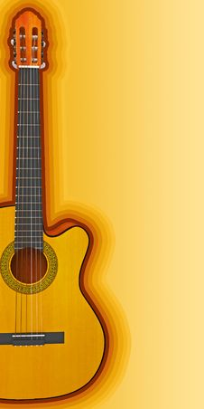 Free Acoustic Guitar Side Royalty Free Stock Photos - 28300228