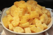 Free Pineapple Peeled. Royalty Free Stock Images - 28302389
