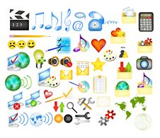 Free Collection Of Web  Icons Royalty Free Stock Images - 28304439