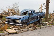 Tornado Damaged Truck Joplin Mo Royalty Free Stock Image