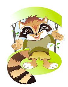 Cute Raccoon Stock Image