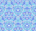 Free Blue Abstract Flowers Seamless Pattern Stock Image - 28312371