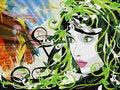 Free Grunge Spring Girl Illustration Stock Photos - 28312793