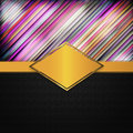 Free Modern Striped Invatation Royalty Free Stock Photography - 28312797