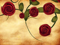 Free Roses On Grunge Paper Stock Photos - 28312803