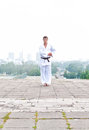 Free Young Karate Master Doing Exercise Royalty Free Stock Image - 28315746