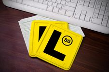 Free L Plates And Licence Application Royalty Free Stock Image - 28312606