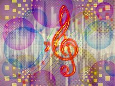 Free Abstract Funky Music Background Royalty Free Stock Photography - 28312727