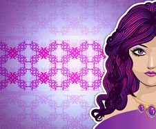 Free Girl With Long Purple Hair Royalty Free Stock Image - 28312766