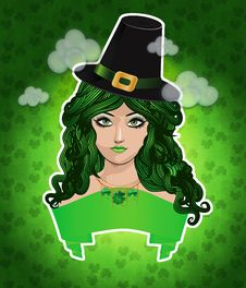 Free Leprechaun Lady Royalty Free Stock Photo - 28312795