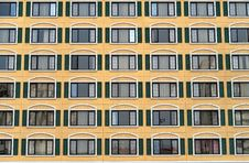 Free Identical Windows In A Large Building Royalty Free Stock Image - 28314016
