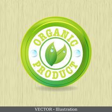Free Organic Label Or Sticker For Products. Royalty Free Stock Photography - 28316337