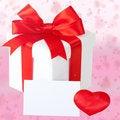 Free White Gift Card And Box, Bow, Ribbon Royalty Free Stock Photo - 28324075