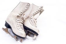 Free Old Skates Royalty Free Stock Image - 28321406