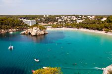 Free Cala Galdana Beach In Menorca, Spain Royalty Free Stock Photos - 28328398