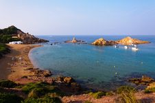 Free Cala Pregonda Beach In Menorca, Spain Royalty Free Stock Photos - 28328468